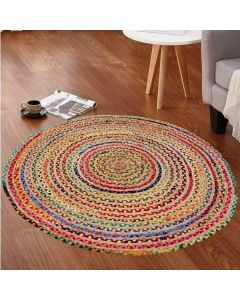 Cotton and Jute Braided Floor Rug - The Home Talk
