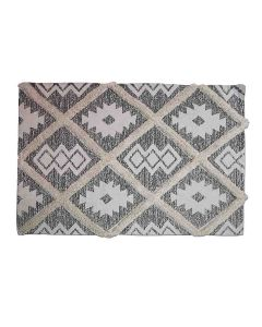Cotton Printed and Tufted Floor Rug (3 x 5 Feet) - The Home Talk