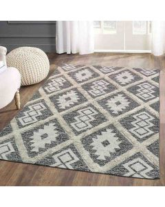 Cotton Printed and Tufted Floor Rug (4 x 6 Feet) - The Home Talk