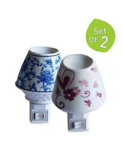 Electric Aroma Diffuser Cum Night Lamps (Set of 2) - The Home Talk