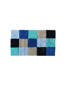 Multi Color Cotton Anti Slip Box Bathmat (50 x 80 cm) - The Home Talk