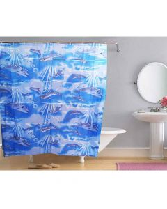 Waterproof Shower Curtain Dolphins Print - The Home Talk