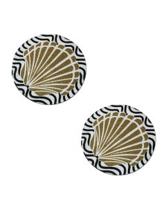Braided Cotton Placemats (15-inch Round) Printed Design 3 - The Home Talk