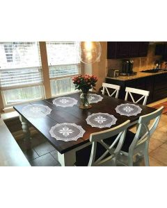 Lace Net Placemat 18-inch Round (Set of 6 pcs) - The Home Talk