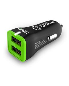 2-USB Port 3.4 Amp Car Smart Charger for iOS and Android - Tizum