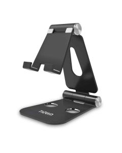 Z12 Anodized Aluminium Adjustable Foldable Stand (Black) - Tizum