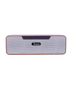 Wooden Bluetooth Speaker With NFC and TWS - TBS-51 (Brown) - Trovo