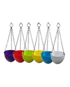 Multicolor Hanging Pots For Garden And Balcony (Set of 6) - Truphe