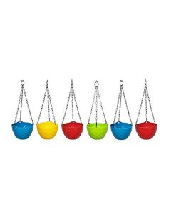 Multi Color Diamond Hanging Pots (Set of 6) - Truphe