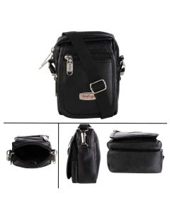 Leather Travel Bag With Adjustable Strap (Black - 18) - Urban Kings