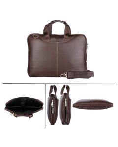 Leather Laptop Bag For Men and Women (Brown - 924) - Urban Kings