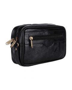 Faux Leather Multipurpose Travel Pouch For Men - Urban Kings