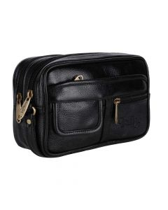 Faux Leather Multipurpose Travel Pouch With Zipper - Urban Kings