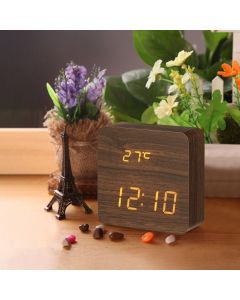 Wooden LED Display Clock