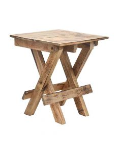 Portable Wooden Folding Stool (Brown) - Woodenclave