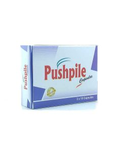 Pushpiles Piles Cure Capsules for Complete Relief From Piles (3 x 10 Capsules)