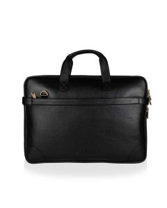Vegan Leather Laptop Bag with Expandable Storage Unisex Insignia Series - Yacht